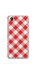 Casenation Red Chequered OnePlus X Matte Case
