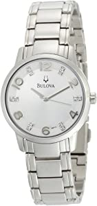 Bulova Women's 96P111 Diamond Silver Dial Bracelet Watch from Bulova