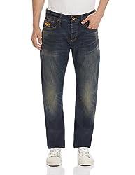 Superdry Men's Straight Fit Jeans (5054265205682_M70MK001F3_30W x 32L_Antique Vintage)