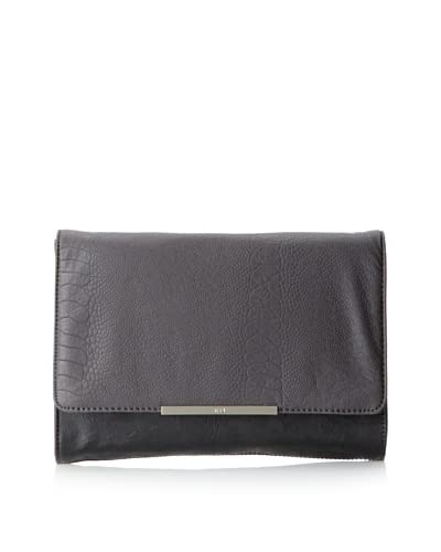 R+J Handbags Women's Skylar Clutch  - Smoke/Black