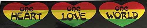 C&D Visionary CDX Reggae One Heart Glitter Sticker