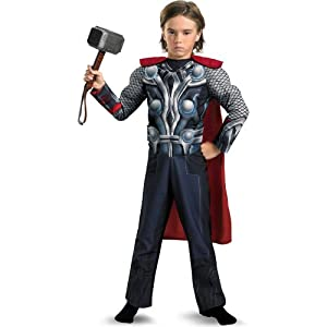 Disguise Boys The Avengers Thor Light Up Muscle Chest Child Costume Blue 10/12