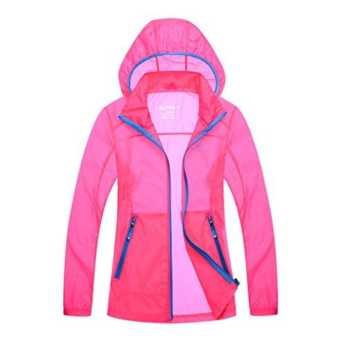 homaok-unisex-uv-protect-quick-dry-skin-coat-small-dark-pink