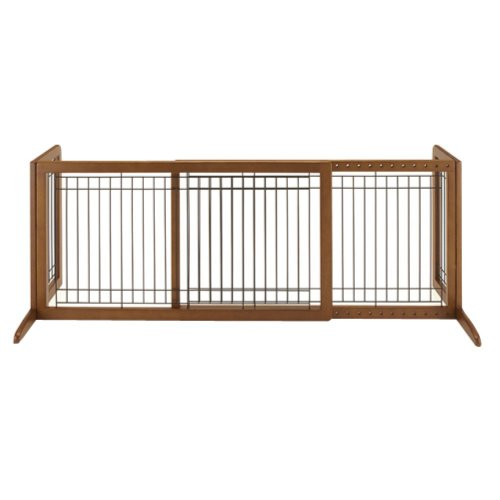 Richell Richell 71 Inch Wide Freestanding Pet Gate, Wood front-321543
