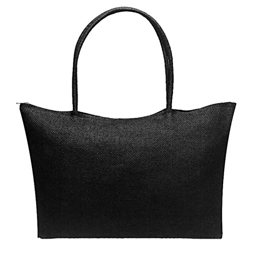 charberry-women-simple-candy-color-large-straw-beach-casual-shoulder-bag-black