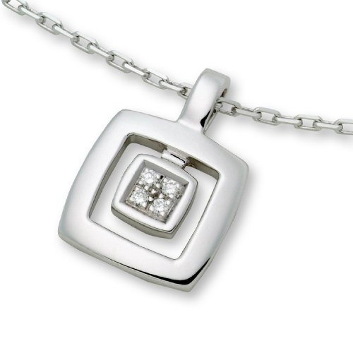 Diamond Necklace, 18ct White Gold, Diamond Pendant, by Miore, M0280W