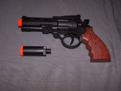 Airsoft Pistol Revolver 2266 Black Spring Loaded Cock and Shoot