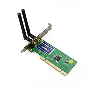 WickedHD PCI 300Mbps 300M 802.11b/g/n Wireless WiFi Card Adapter