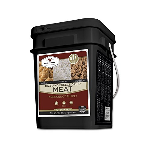 Wise Foods Gluten Free Protein Bucket (104 Servings), Black (Wise Company Emergency Food compare prices)