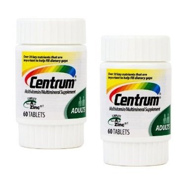 Centrum Multi-vitamin Multi-mineral Supplement Complete From a to Zinc to Help Protect Your Health As YOU AGE for Adults MEN and Women Over - 2 Pack Travel Size of 60 Tablet Bottles