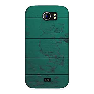 Delighted Green Wood Texture Print Back Case Cover for Micromax Canvas 2 A110