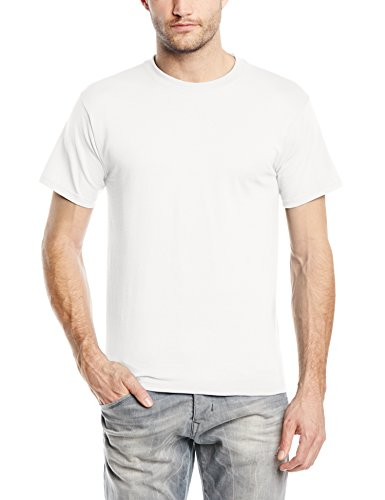 fruit-of-the-loom-t-shirt-coupe-droite-col-rond-manches-courtes-homme-blanc-x-large
