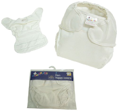 Junior Joy 2-Piece Finn Nappy Cover, White, Extra Large - 1