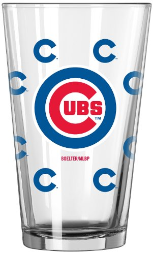 MLB Chicago Cubs 16-Ounce Color Changing Pint Glass, Set of 2 (Cubs Beer Glasses compare prices)