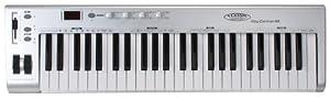 Classic Cantabile MK-49 USB Midi-Keyboard mit 49 Tasten (4 programmierbare Drehregler, 1 programmierbarer Slider, 5-stufig einstellbare Anschlagdynamik, Anschluss für Sustain-Pedal, inkl. USB-Kabel)