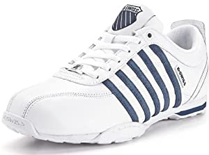 K. Swiss Arvee 1.5 White Navy White New Mens Leather Shoes Trainers Boots-10