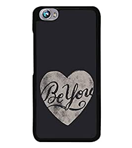 Be You 2D Hard Polycarbonate Designer Back Case Cover for Micromax Canvas Fire 4 A107