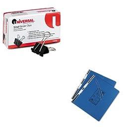 KITUNV10200UNV15442 - Value Kit - Universal Pressboard Hanging Data Binder (UNV15442) and Universal Small Binder Clips (UNV10200)