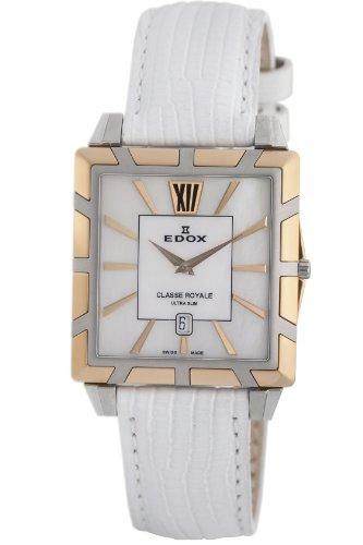 Edox Women's 26022 357R NAIR Classe Royale Rectangular Date Watch