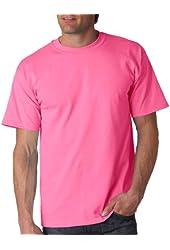 Gildan Men's Ultra Preshrunk Cotton T-Shirt, Safety Pink