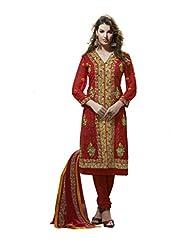 Nirali Women's Georgette Unstitched Dress Material - B00L2EUH10