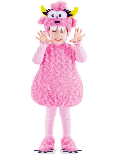 Pink Monster Plush Belly Toddler Costume