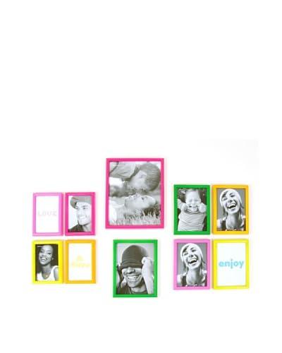 Present time Set De Marcos De Fotos Easy Deco Multicolor