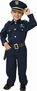 Award Winning Deluxe Police Dress Up Costume Set - Small 4-6
