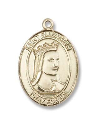 Gold Filled St. Elizabeth of Hungary Pendant
