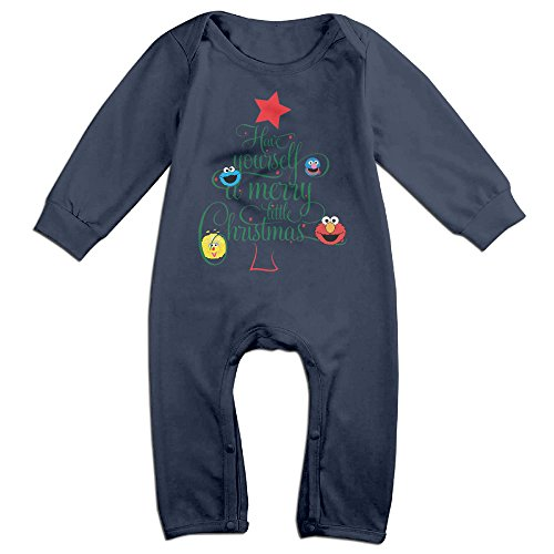 OLVB Newborn Sesame Street Christmas Long Sleeve Climbing Clothes 6 M