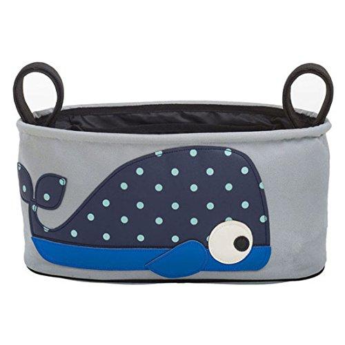 Bestpriceam (Tm) Baby Stroller Storage Bag Pushchair Diaper Nappies Basket With Animals (Whale)