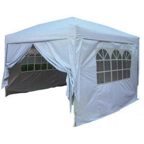 Quictent® Ⅱ10x10 Ez Pop up Party Tent Canopy Gazebo Silver 4 Walls w/ Free Carry Bag 100% Waterproof picture