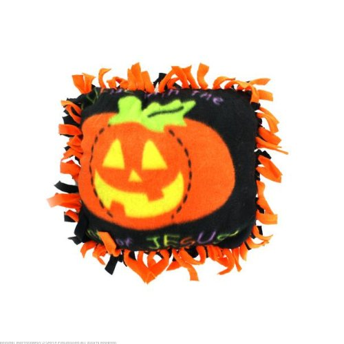 72 Fleece Christian Pumpkin Tied Pillow Craft Kit front-89183