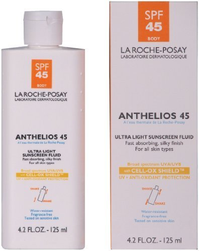 La Roche-Posay Anthelios 45 Ultra Light Sunscreen Fluid for Body with SPF 45, 4.2-Ounce