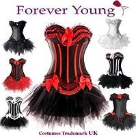 Forever Young Burlesque Moulin Rouge Lolita FANCY DRESS Corset & Tutu