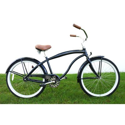 Men's Single Speed Aluminum Beach Cruiser Frame Color: Midnight Blue