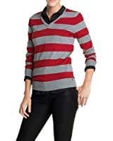 edc by ESPRIT Pull-over Col V Manches longues Femme
