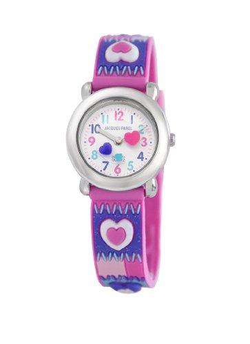 Jacques Farel Kids' HBBC8734 Hearts Watch  Photo
