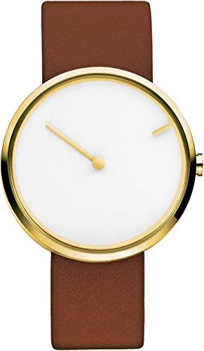Jacob Jensen-Reloj de pulsera unisex Curve Series analógico de cuarzo piel 254