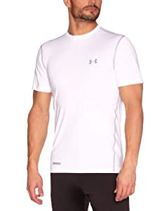 Under Armour Heatgear Sonic Fitted Men's T-Shirt - White/Steel, M