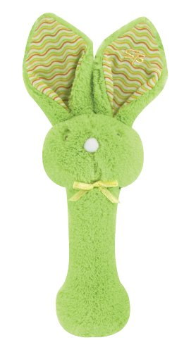 Stephan Baby Fuzzy Bunnie Rattle, Green