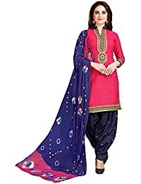Shiroya Brothers Women's Cotton Printed Unstitched Regular Wear Salwar Suit Dress Material ( Free_Size_Multi-Colour)