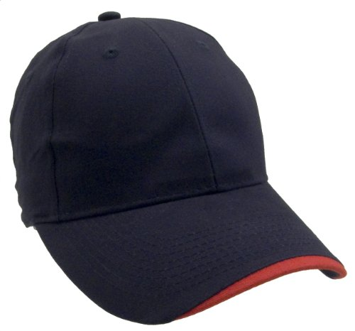 Constructed Navy Lightweight Brushed Cotton Twill Cap - Wholesale Lot Of 4 - Fathers Day Gifts For Grandpa