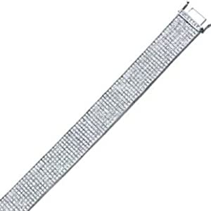 35.50CT Diamond Invisible Bracelet in 86.0GR of 14K White Gold