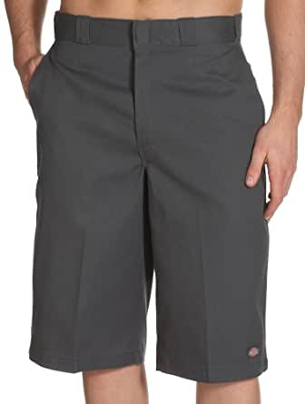 Dickies Men's 15 Inch Inseam Work Short With Multi Use Pocket, Charcoal, 30