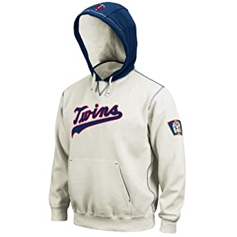 MLB Minnesota Twins 1965 Cooperstown Long Sleeve Hooded Fleece Pull Over by Majestic