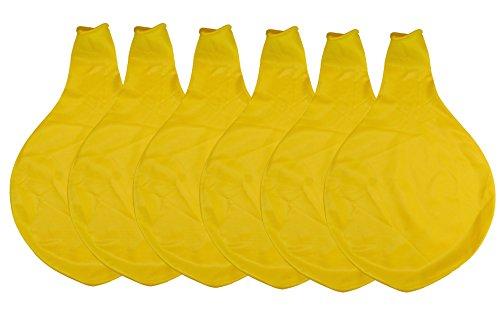 36 Inch Latex Balloon Yellow (Premium Helium Quality) Pkg/6