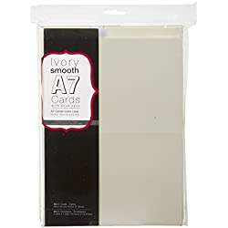 Blank Cards and Envelopes - Ivory - 5 x 7 - 50 pcs - Value Pack