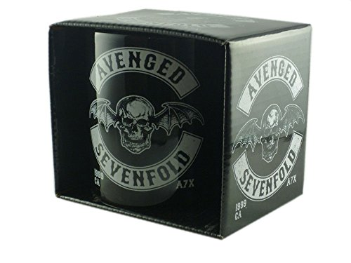 Avenged Sevenfold-Tazza in ceramica-Logo-confezionato in una confezione regalo.