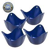 Silicone Egg Poachers (Set of 4)... Premium Poacher Pods ... 100% Satisfaction Guarantee